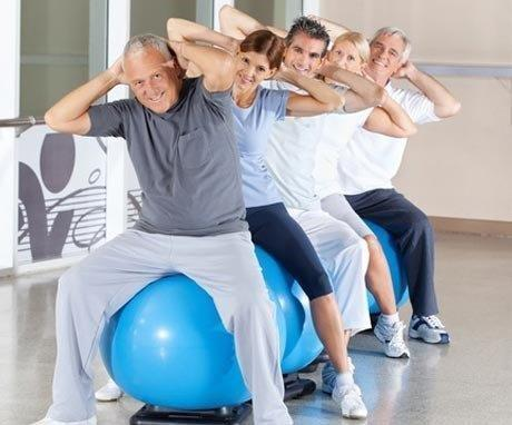Older adults in a fitness class at a Three Rivers area senior center